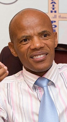 Xola Skosana, pastor of Way of Life Community Church, Khayelitsha Township, Cape Town, South Africa.