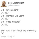 """Julius Malema """"gives S.A.  to whites for safe keeping"""""""
