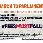 BLF supports the #FeesMustFall march against Pravin Gordhan