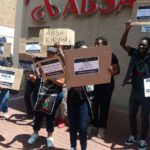 BLF national pickets against ABSA a huge success
